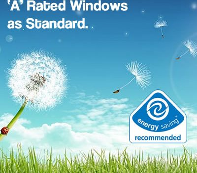 A-rated UPVC Windows logo